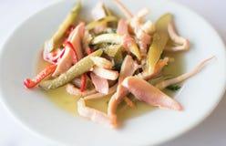 Salada do calamar Imagens de Stock Royalty Free