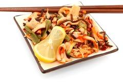 Salada do calamar fotografia de stock