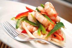 Salada do camarão Fotografia de Stock
