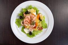 Salada do camarão. Foto de Stock Royalty Free