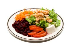 Salada do camarão Imagem de Stock