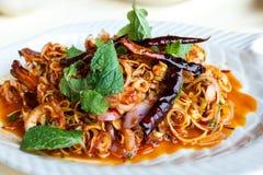 Salada do camarão com nardo e hortelã Foto de Stock