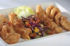 Salada do camarão do calamar Fotografia de Stock