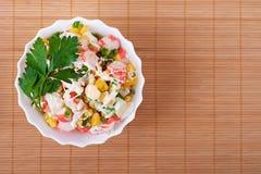 Salada do caranguejo imagem de stock