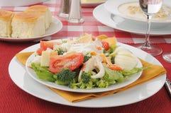Salada do caranguejo com guisado de ostra Imagens de Stock Royalty Free