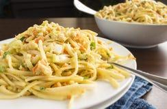 Salada do caranguejo do Linguine Imagens de Stock Royalty Free