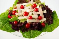 Salada do cozinheiro chefe - vista 2 foto de stock royalty free