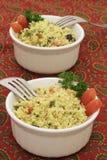 Salada do cuscuz para dois Imagens de Stock Royalty Free