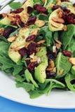Salada do espinafre e do abacate Fotografia de Stock