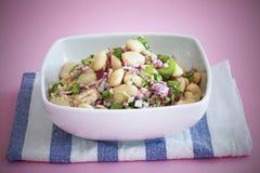 Salada do feijão e de atum com aipo Imagem de Stock Royalty Free