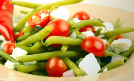 Salada do feijão verde de Dilled fotografia de stock