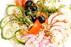 salada do Feta-queijo Fotografia de Stock