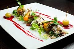 Salada do gourmet do close-up Fotos de Stock Royalty Free
