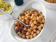 Salada do grão-de-bico Foto de Stock Royalty Free
