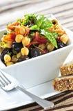 Salada do grão-de-bico do vegetariano fotos de stock