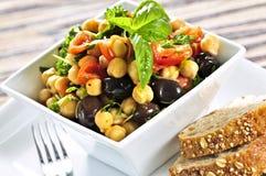 Salada do grão-de-bico do vegetariano foto de stock royalty free