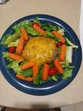 Salada do Hamburger Fotografia de Stock Royalty Free