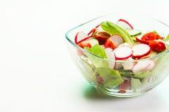 Salada do legume fresco com pepino e rabanete imagem de stock