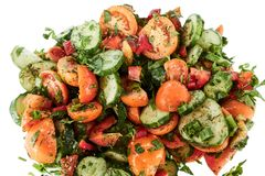 Salada do legume fresco isolada no fundo branco imagens de stock