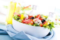 Salada do legume fresco (salada grega) Fotografia de Stock