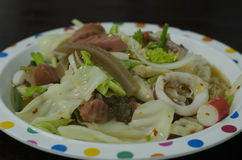 Salada do macarronete do celofane Foto de Stock Royalty Free