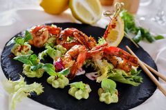 Salada do marisco foto de stock