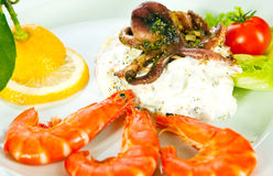 Salada do marisco Imagens de Stock Royalty Free