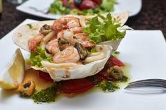 Salada do marisco Foto de Stock Royalty Free