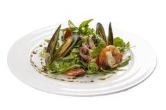 Salada do marisco Um prato espanhol tradicional imagens de stock
