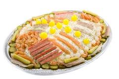 Salada do partido com peixes Fotografia de Stock