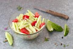 Salada do pepino Fotografia de Stock Royalty Free