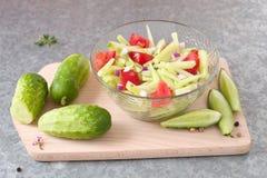 Salada do pepino Imagens de Stock