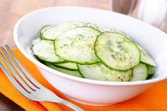 Salada do pepino Foto de Stock Royalty Free