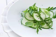 Salada do pepino e de Rocket Fotografia de Stock