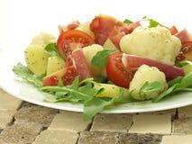 Salada do presunto de Parma fotografia de stock royalty free