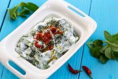 Salada do Purslane com iogurte Fotos de Stock