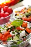 Salada do queijo com legumes frescos fotografia de stock royalty free