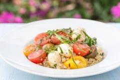 Salada do Quinoa de Caprese Imagens de Stock Royalty Free