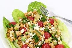 Salada do Quinoa e do grão-de-bico Imagem de Stock Royalty Free