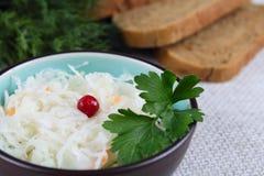Salada do repolho com uma airela e um pão Fotos de Stock
