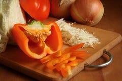 Salada do repolho e de uma paprika Foto de Stock