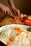 Salada do repolho e de uma paprika Imagens de Stock