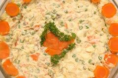 Salada do russo fotos de stock royalty free
