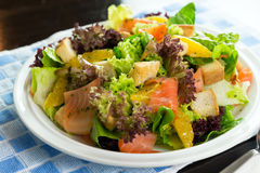 Salada do salmão fumado Imagem de Stock