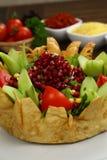 Salada do shell da tortilha fotografia de stock royalty free