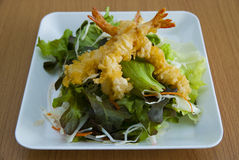 Salada do Tempura Fotos de Stock Royalty Free