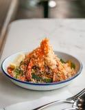 Salada do Tempura imagens de stock royalty free