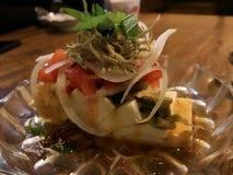 Salada do Tofu do estilo japonês Imagem de Stock