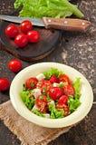 Salada do tomate com alface, queijo Imagem de Stock Royalty Free