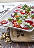 Salada do tomate com mozzarella Imagens de Stock Royalty Free